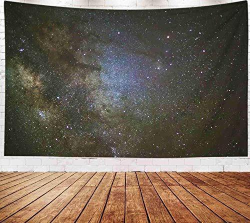 Fullentiart Wall Tapestry, Map Large Tapestry Wall Hanging 80x60inch Closeup Milky Way Galaxy Stars Space Dust in The Universe Long Exposure Photograph Decoration Room Holiday Décor Tapestries