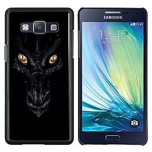 Ojos Noche Negro Escalas Oro- Metal de aluminio y de plástico duro Caja del teléfono - Negro - Samsung Galaxy A5 / SM-A500