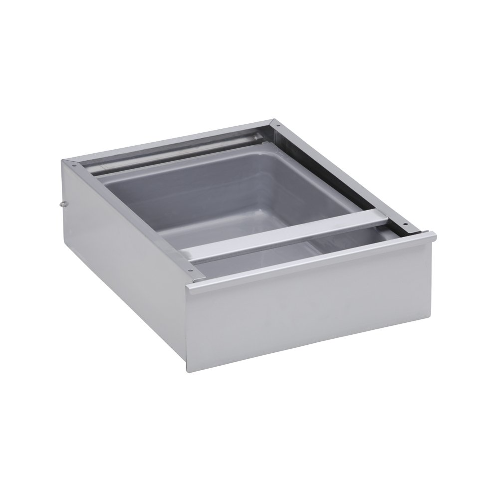 Roller Bearing Single Drawer, with 15'' x 20'' s/s liner
