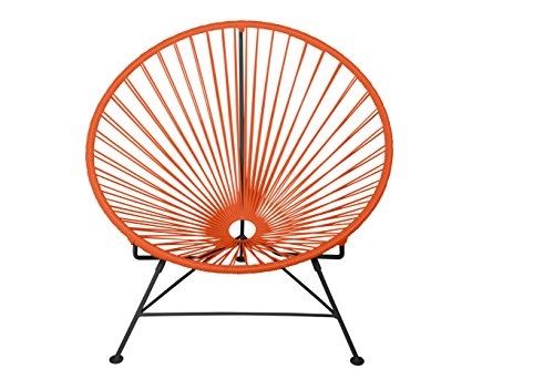 Innit Designs Rocker, Orange Weave on Black Frame
