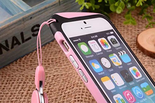 low priced 6c0c0 34021 Feelglad (TM) Bumper Frame Protection Shell Case with Adjustable Detachable  Neck Lanyard GEL Hanging Neck Strap Lanyard Holder for iPhone 6 ...
