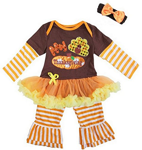 Thanksgiving Baby Outfits - Kirei Sui Baby My First Thanksgiving