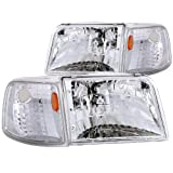 94 ford ranger headlight assembly - Anzo USA 111119 Ford Ranger Clear With Amber Corners Headlight Assembly - (Sold in Pairs)