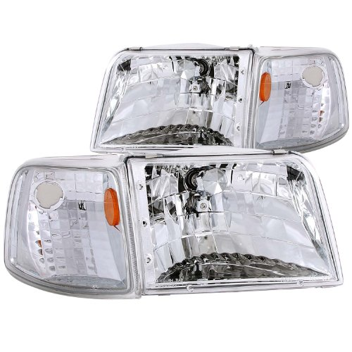 Anzo USA 111119 Ford Ranger Clear With Amber Corners Headlight Assembly - (Sold in - Clear Ranger Ford Corner