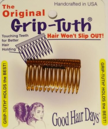 """Good Hair Days The Original Grip-Tuth Hair Combs, Set of 2, 40163 Shorty 1 3/4"""" Wide"""