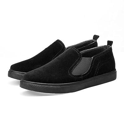 ZXCV Chaussures de plein air Chaussures de paresseux des hommes sauvages extérieurs de loisirs des hommes ( Couleur : Noir , taille : 43 )