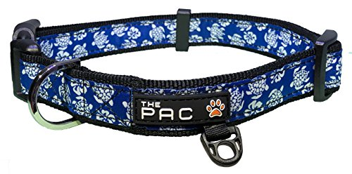 The Pac - Hawaiian Surf, Safe and Comfortable Dog Collar (Hawaiian Dog Collar Collars)