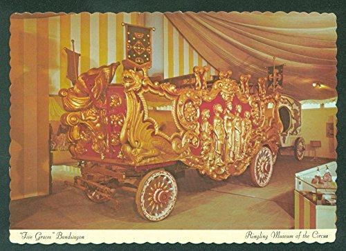 RINGLING MUSEUM CIRCUS Parade Vehicle Bandwagon GOLDEN AGE Postcard