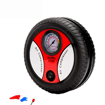 CBHQUSF Air Compressor Pump: Portable 12V Tire Inflator Pressure Gauge Tire Pump-Compressor Tanks