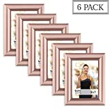 Langdons 5x7 Picture Frame Set (6 Pack, Rose Gold Picture Frame) Photo Frames 4x6, Wall Hang or Table Top Display, 5 x 7 Picture frames - Gold Frames, Celebration Series