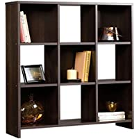 Sauder Beginnings Collection 9 Cube Storage Organizer - 35.276 inches W x 35.906 inches H Dimension - Cinnamon Cherry Bookcase