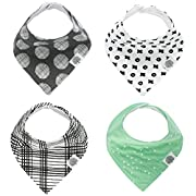 Parker Baby Bandana Drool Bibs – 4 Pack Baby Bibs for Boys, Girls, Unisex -  Denver Set