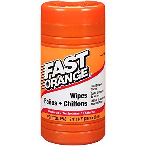 Permatex 25051 Fast Orange Hand Cleaner Wipe - 72 Count - Hand Cleaner Orange