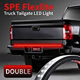 60-Inch 2-Row LED Truck Tailgate Light Bar Strip Red/White Reverse Stop Turn Signal Running for SUV RV Trailer