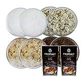 FALKSALT Coarse Sea Salt Flakes with Assorted Swedish Flavors - Wild Garlic, Oak-Smoked, Wild Mushroom, Natural Seasalt - 1.41 oz each - 2 Pack