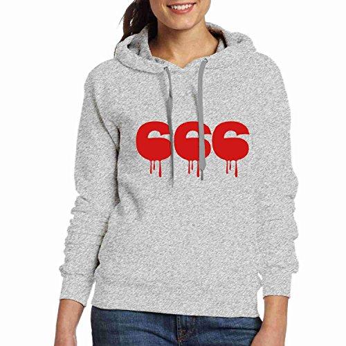 Personalizzabili Donne Della Grigio Hoodies Bestia Il Numero 666tor Personalizzati x6TqRwPOw