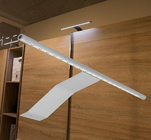 LED Aufbauleuchte Schrankleuchte / Art. 2085-0 / Lichtfarbe warm weiß mit Kabel und Steckverbindung Spiegellampe Schrankleuchte Möbelleuchte Aufbaulampe Alu
