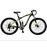 Eurobike E7 Mountain Bike 21 Speed 27.5 Inches Wheels Dual Disc Brake Dual Suspension Mountain Bicycle