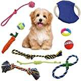 VOIMAKAS Puppy Dog Chew Toys, 10 Pack Dog Chew Rope Toys for Puppies Teething, Dental Cleaning and Playtime Dog Teething Toys Dog Toy Set for SmallMedium Dog Breeds