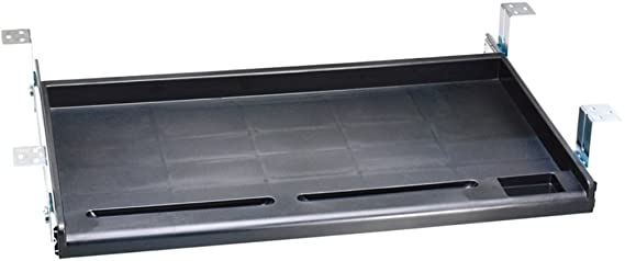 Amazon.com: Aidata KB003B Standard Under Desk Tray, Allows ...
