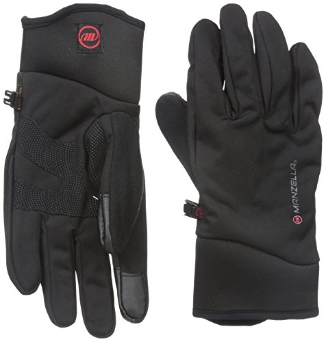 Manzella Men's All Elements 3.0 Touch Tip Gloves, Black, (Manzella Ski)