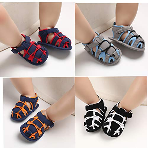 Greceen Infant Baby Boys Girls Summer Sandals PU Leather Rubber Sole Toddler First Walker Shoes