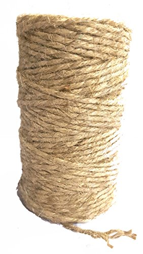 Jute Garden Twine by AAYU || Natural Jute Rope || Jute Rope for Craft || Unique Dark Garden Twine || 3 Ply 200 Feet || Supports Vines, Plants and Vegetables Pottery Product ()