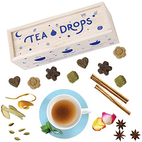 Tea Drops Instant Organic Pressed Teas - Medium Herbal Tea Sampler Assortment Box - Dissolves in your Cup Eliminating the Need for Teabags and Sweetener Packets - Loose Leaf Tea without the Fuss