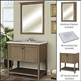 Miseno MVAN30COM 30'' Bathroom Vanity Set - Cabinet, Stone Top and Medicine Cabin, Sand Dollar