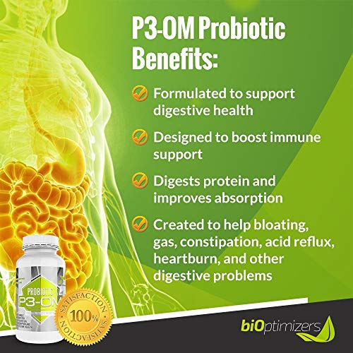 P3-OM - Best Probiotics for Women and Men - Dr. Formulated - No Refrigeration Needed - Patented Single Strain - Boosts Immunity - Supports Digestive Health (120) by BiOptimizers (Image #2)