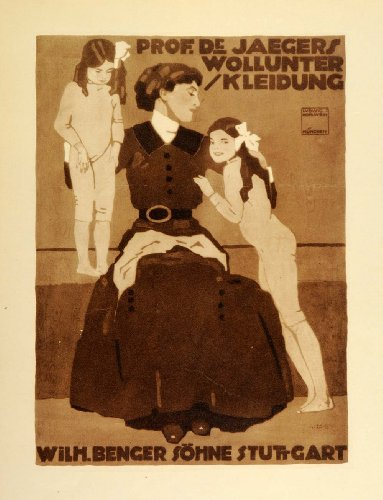 1926-photogravure-hohlwein-poster-art-ad-dr-jaegers-wollunter-kleidung-children-original-photogravur