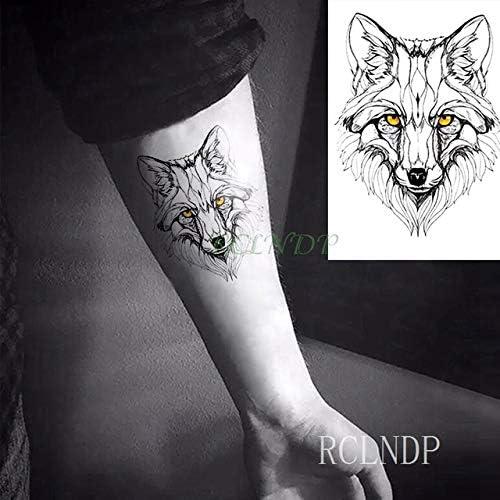 tzxdbh 3Pcs-Etiqueta engomada del Tatuaje Impermeable Lobo Lobo ...
