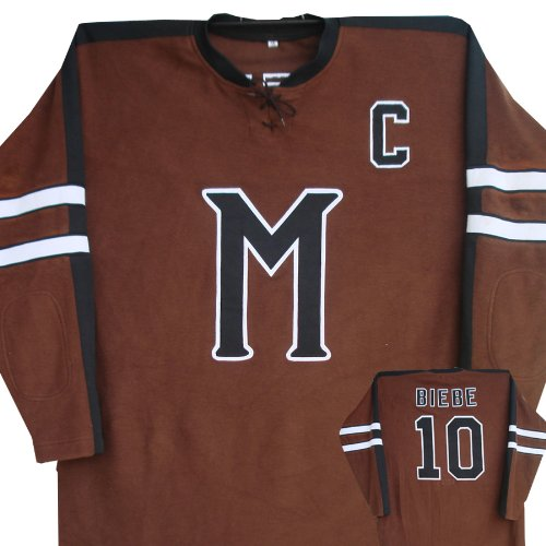 [Mystery Alaska Hockey Jersey sz 52 John Biebe #10 2XL] (Throwback Halloween Costumes)