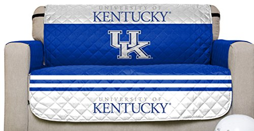 Pegasus Sports NCAA Kentucky Wildcats Love Seat Reversible Furniture Protector with Elastic Straps, 75-inches by 88-inches -