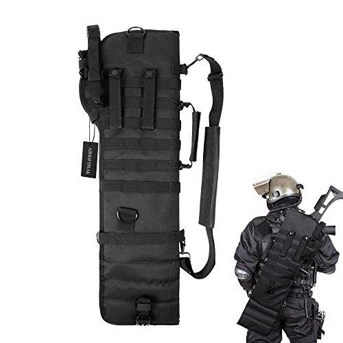 Tactical Pistol Breacher's Shotgun Scabbard Holster Molle Rifle Sling Case Bag for...