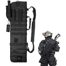 Tactical Pistol Breacher's Shotgun Scabbard Holster Molle Rifle Sling Case Bag for Outdoor Hunting Black