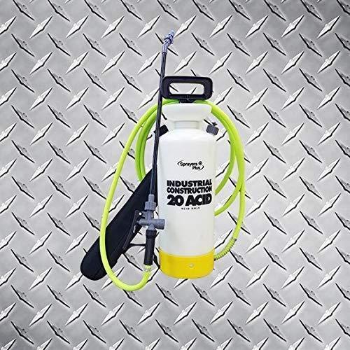 2 Gallon Hand Pump Acid Sprayer with 12' Flex Hose