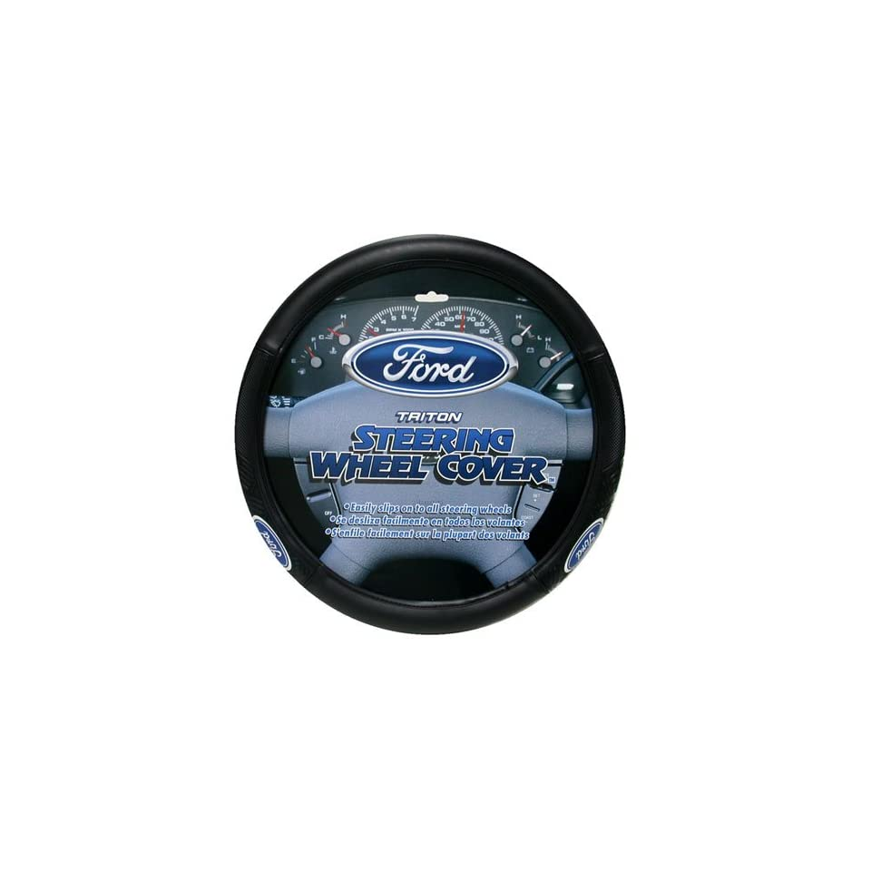 PlastiColor 006445 Ford Mustang Ford Oval Logo Steering Wheel Cover