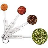 Stainless Steel Metal Measuring Spoons Set Of 4PCS, Metal Teaspoon for Measuring Dry and Liquid Ingredients.