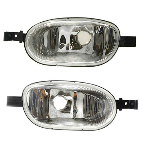 Make Auto Parts Manufacturing Set of 2 DOT/SAE Driver and Passenger Side Plastic Clear Lens Corner Lamp Assembly For GMC Envoy 2002-2009, Envoy XL 2002-2006, Envoy XUV 2004-2005 - GM2549101,GM2548101