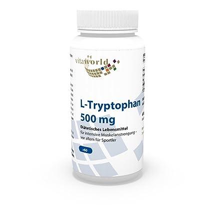 L-Triptófano 500mg 60 Cápsulas Vita World Farmacia Alemania - Serotonina - Aminoácidos