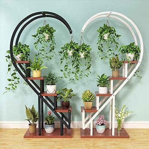 Florero Soporte for plantas, soportes for plantas en el interior, sala de estar for el hogar Estante de flores, plataforma de hierro circular de varios pisos en el interior, repisa decorativa de