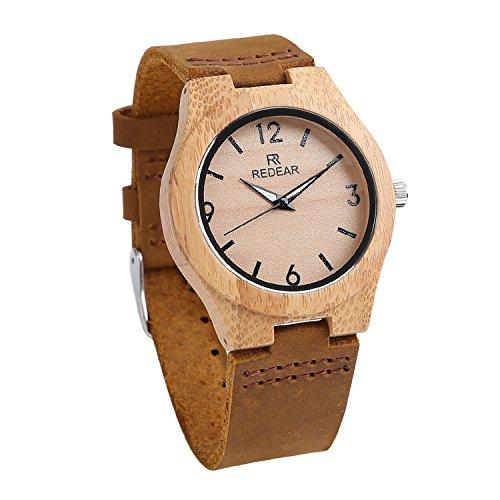 Wrist+Watch+Women%2C+Women%27s+Bamboo+Case+Luminous+Pointer+Wooden+Quartz+Watch+with+Leather+Strap+%28Female%29