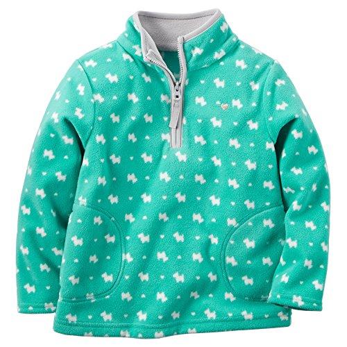 Carter's Baby Girls' Zip Microfleece Jacket (6 Months, Tu...
