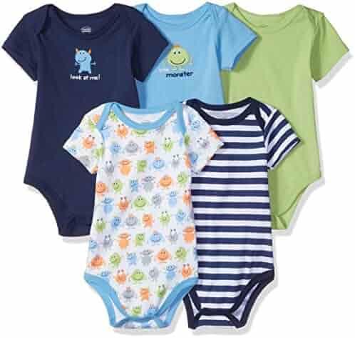 Luvable Friends Girls Unisex Baby Cotton Bodysuits