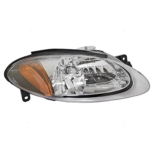 Passengers Halogen Combination Headlight Headlamp Replacement fits 98-03 Ford Escort ZX2 Coupe XS4Z13008CA ()