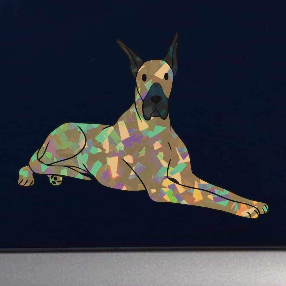 Cars Laptops and more D/écor Windows 4 Inch Full Color Vinyl Decal for Indoor or Outdoor use Apollo The Great Dane Dog