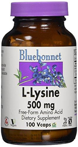 Bluebonnet Kosher Amino Acid - Bluebonnet L-Lysine 500 mg Vitamin Capsules, 100 Count