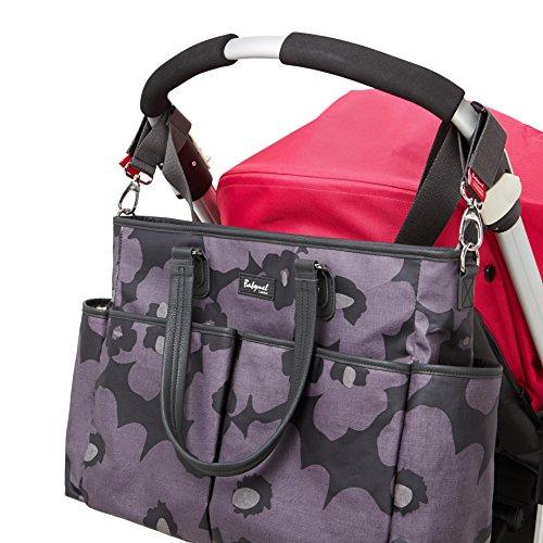 Babymel Bella Shoulder Bag Diaper Bag, Floral Grey