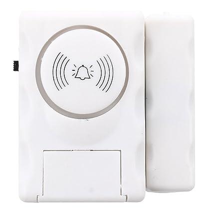 TOOGOO(R)Detector magnetico de apertura puerta ventana Alarma Casa de seguridad